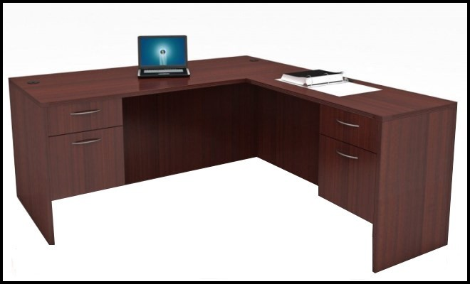 new cherryman l desk new cherryman amber series am 317n 30 x 66 l